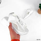 Босоніжки жіночі Alena білі 3872, фото 2