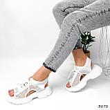 Босоніжки жіночі Alena білі 3872, фото 3