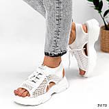 Босоніжки жіночі Alena білі 3872, фото 8