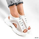 Босоніжки жіночі Alena білі 3872, фото 10