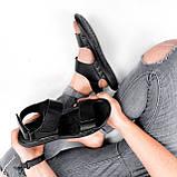 Сандалі чоловічі Jensen чорні 3955, фото 4