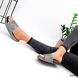 Шльопанці жіночі Liana срібло 4044, фото 4