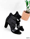 Босоножки женские Hanis черные 4070, фото 5