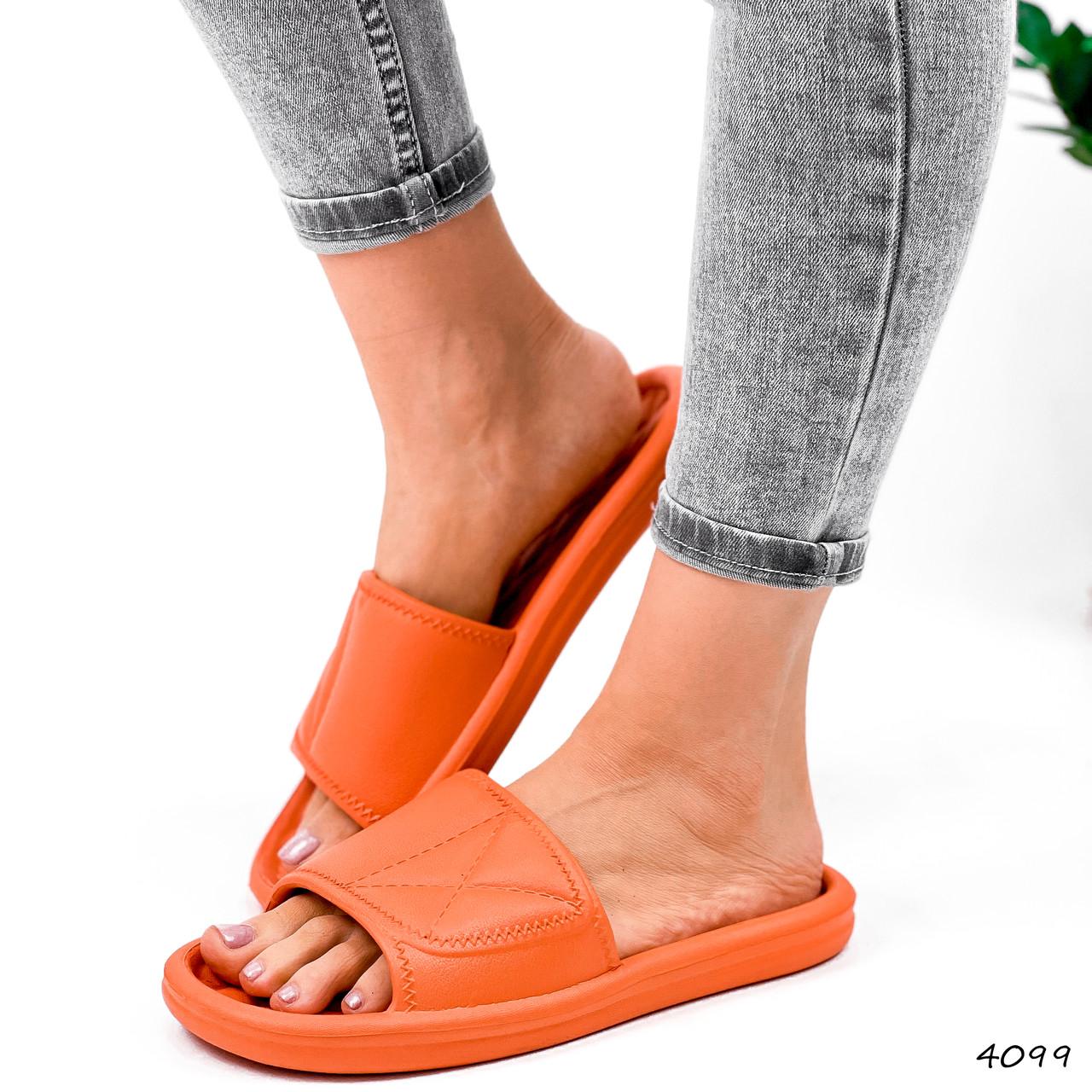 Шлепки женские Eliss оранжевые 4099