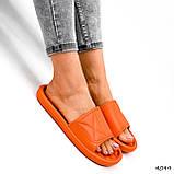 Шлепки женские Eliss оранжевые 4099, фото 4