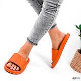Шлепки женские Eliss оранжевые 4099, фото 5