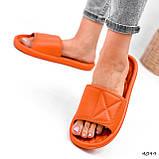 Шлепки женские Eliss оранжевые 4099, фото 7