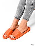 Шлепки женские Eliss оранжевые 4099, фото 9