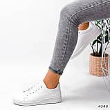 Кросівки жіночі Cati білі + голографик 4148, фото 2