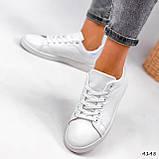Кросівки жіночі Cati білі + голографик 4148, фото 3
