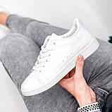 Кросівки жіночі Cati білі + голографик 4148, фото 4