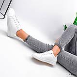 Кросівки жіночі Cati білі + голографик 4148, фото 5