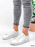 Кросівки жіночі Cati білі + голографик 4148, фото 6