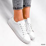 Кросівки жіночі Cati білі + голографик 4148, фото 7