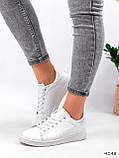 Кросівки жіночі Cati білі + голографик 4148, фото 8