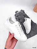 Кросівки жіночі Cati білі + голографик 4148, фото 9