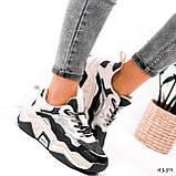 Кроссовки женские Flash серый + беж 4159, фото 4