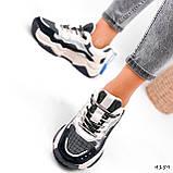 Кроссовки женские Flash серый + беж 4159, фото 5