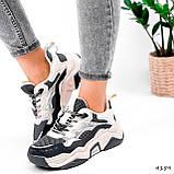 Кроссовки женские Flash серый + беж 4159, фото 7