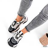 Кроссовки женские Flash серый + беж 4159, фото 8
