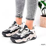 Кроссовки женские Flash серый + беж 4159, фото 9