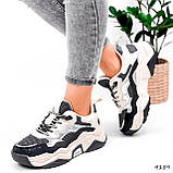 Кроссовки женские Flash серый + беж 4159, фото 10