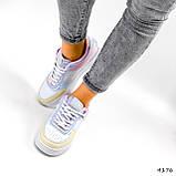 Кроссовки женские Fores белые + желтый + пудра + фиолетовый 4176, фото 2
