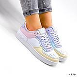 Кроссовки женские Fores белые + желтый + пудра + фиолетовый 4176, фото 3