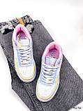 Кроссовки женские Fores белые + желтый + пудра + фиолетовый 4176, фото 9