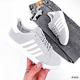 Кросівки жіночі Adis сірі + білий 4181, фото 2