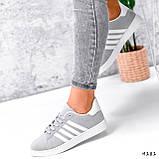 Кросівки жіночі Adis сірі + білий 4181, фото 4