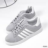 Кросівки жіночі Adis сірі + білий 4181, фото 5