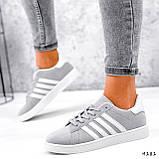 Кросівки жіночі Adis сірі + білий 4181, фото 7