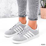 Кросівки жіночі Adis сірі + білий 4181, фото 8