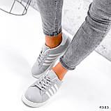 Кросівки жіночі Adis сірі + білий 4181, фото 9