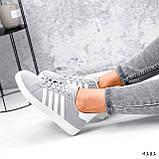 Кросівки жіночі Adis сірі + білий 4181, фото 10