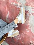 Кросівки жіночі Lanwar білі + коричневий 4208, фото 4