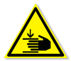 Предупреждающий знак «Осторожно. Возможно травмирование рук».