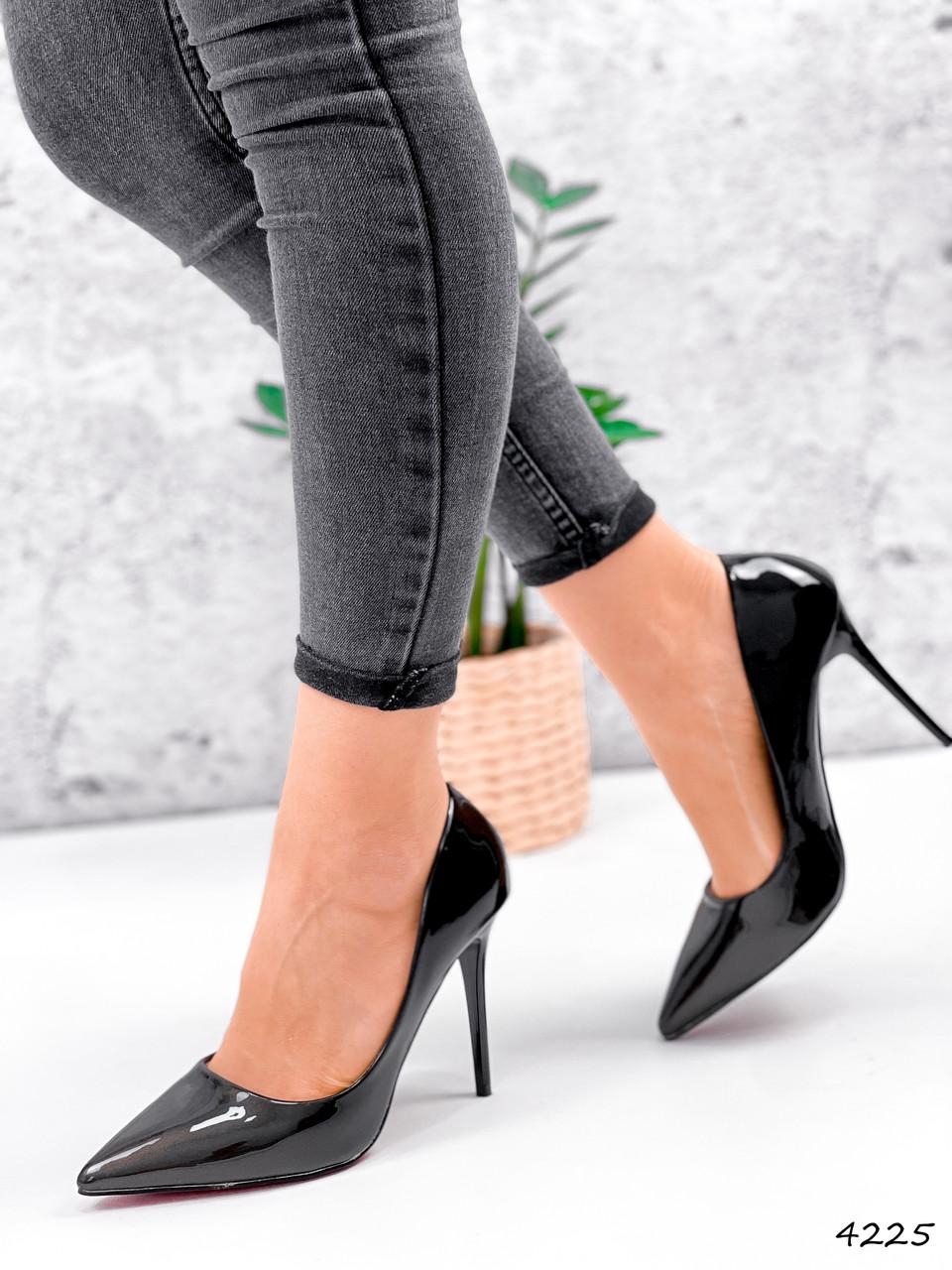 Туфли женские Alvar омбре черные + бронза 4225