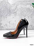 Туфли женские Alvar омбре черные + бронза 4225, фото 2
