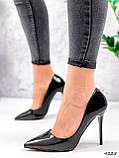 Туфли женские Alvar омбре черные + бронза 4225, фото 3
