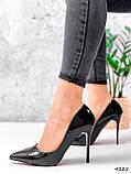 Туфли женские Alvar омбре черные + бронза 4225, фото 6