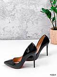 Туфли женские Alvar омбре черные + бронза 4225, фото 7