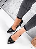 Туфли женские Alvar омбре черные + бронза 4225, фото 9