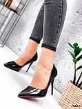 Туфли женские Alvar омбре черные + бронза 4225, фото 10