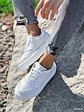 Кроссовки женские Madlen белые 4262, фото 4