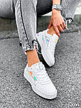 Кроссовки женские в стиле Puma белые + голографик 4286, фото 2