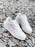 Кроссовки женские в стиле Puma белые + голографик 4286, фото 3