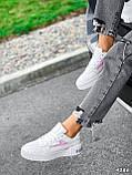 Кроссовки женские в стиле Puma белые + голографик 4286, фото 4