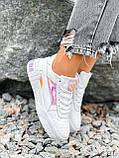 Кроссовки женские в стиле Puma белые + голографик 4286, фото 5